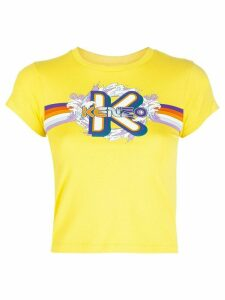 Kenzo graphic-logo print T-shirt - Yellow
