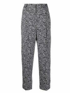 Michael Michael Kors leopard print straight-leg trousers - Black
