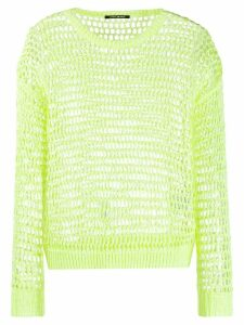 Luisa Cerano open knit jumper - Yellow