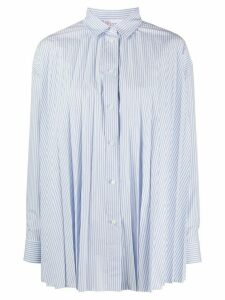 RedValentino striped pleated shirt - White