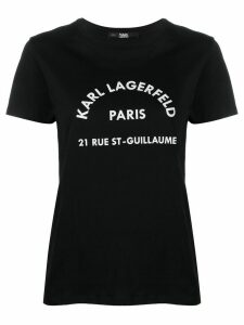 Karl Lagerfeld Address logo T-shirt - Black