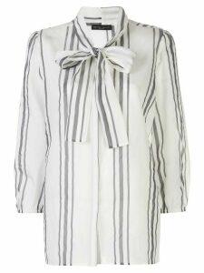 Fabiana Filippi striped pussybow shirt - White
