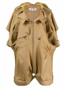 Junya Watanabe short sleeved trench coat - NEUTRALS