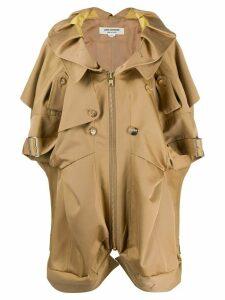 Junya Watanabe short sleeved trench coat - NEUTRALS