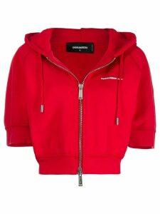 Dsquared2 short-sleeved hooded sweatshirt