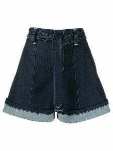 Chloé high waisted denim shorts - Blue