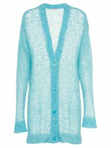 Miu Miu long sequined cardigan - Blue