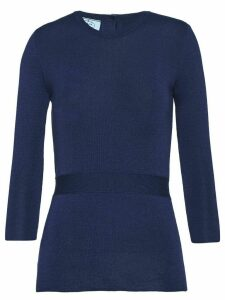 Prada button-detailed jumper - Blue