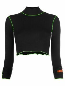 Heron Preston cropped turtleneck jumper - Black