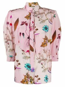 Stella McCartney graphic print rounded shoulders blouse - PINK