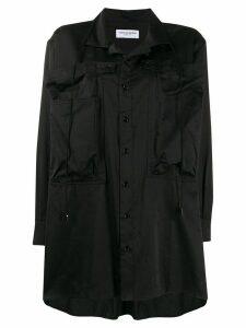 Marine Serre oversized graphic-pattern shirt - Black