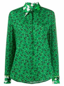 Iceberg floral-print long-sleeved shirt - Green