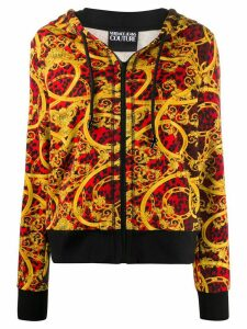 Versace Jeans Couture Baroque leopard print hoodie - Red