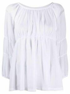 Comme Des Garçons Comme Des Garçons pleated babydoll blouse - White