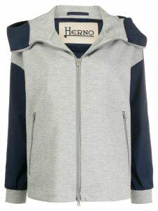 Herno high-neck hooded jacket - Blue