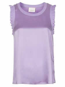 Cinq A Sept Lenore ruffle trim top - PURPLE