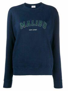 Saint Laurent Malibu vintage print sweatshirt - Blue