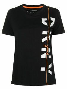 DKNY stripe detail logo T-shirt - Black