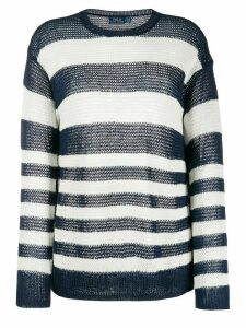 Polo Ralph Lauren striped loose-fit jumper - Blue
