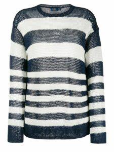 Polo Ralph Lauren striped loose-fit jumper - Blue