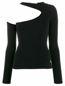 Emilio Pucci cut out detail knitted top - Black