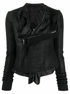 Rick Owens Tecuatl layered biker jacket - Black