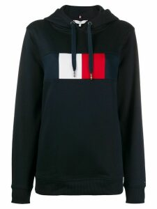 Tommy Hilfiger branded long-sleeved hoodie - Blue