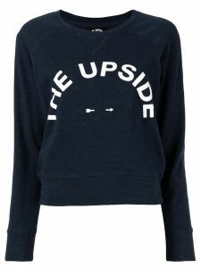 The Upside Horseshoe Bronte logo print sweatshirt - Blue