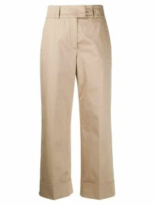 Peserico cropped straight leg trousers - NEUTRALS
