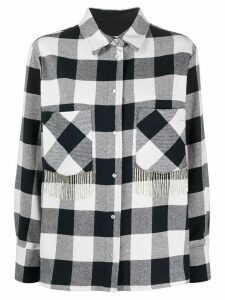Woolrich fringed check shirt - Blue