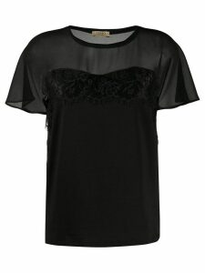 LIU JO sheer panel blouse - Black