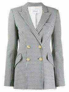 Derek Lam 10 Crosby Rodeo Double Breasted Gingham Twill Blazer - Blue