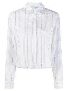 Off-White Popeline print cropped shirt