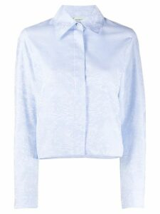 Off-White Waves cropped shirt - Blue