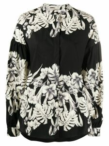 Twin-Set floral print shirt - Black
