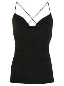M Missoni draped neck top - Black