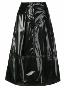 Tibi patent sculpted skirt - Black