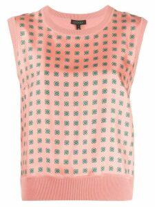 Escada silk sleeveless knitted top - PINK