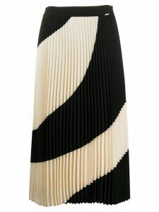 Twin-Set pleated midi skirt - White