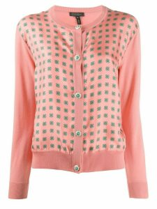 Escada floral printed panel cardigan - PINK