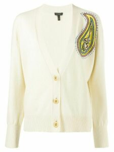 Escada knitted embroidered cardigan - NEUTRALS