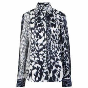 Victoria Beckham Silk Leopard Print Blouse
