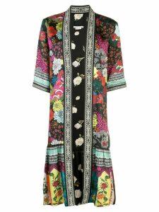 Alice+Olivia floral print oversized jacket - Black