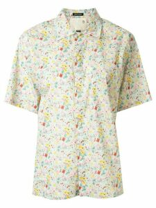 R13 loose-fit floral shirt - Green