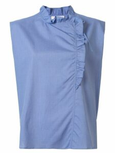 Atlantique Ascoli ruffle neck blouse - Blue