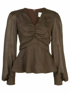 Alexis Avani polka dot top - Black