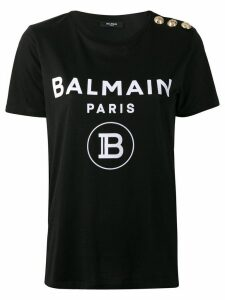 Balmain logo-print cotton T-shirt - Black