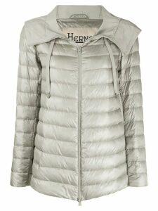 Herno zip-front puffer jacket - Grey