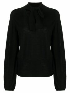 Temperley London tied neck blouse - Black