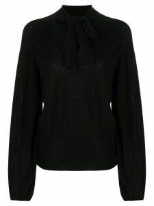 Temperley London tied neck blouse - Black